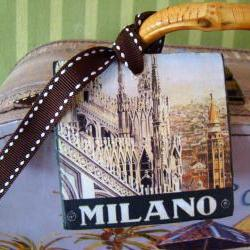 Milan Vintage Style Customized Luggage Tag